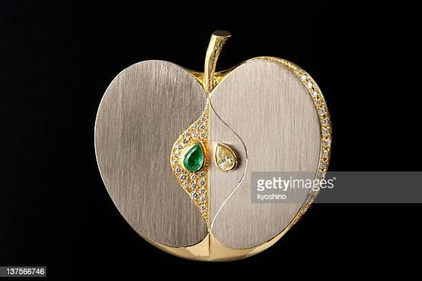 apple broche de oro Vintage