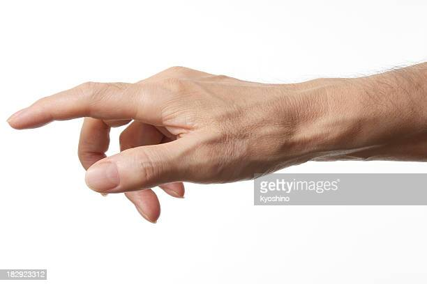 Isolated shot of pointing against white background