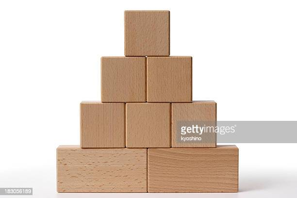 Isolated shot of toy blocks on white background