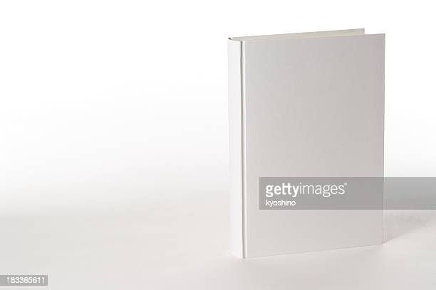 isolated shot of white blank book on white background - blank stock pictures, royalty-free photos & images