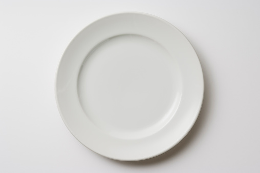 Isolated shot of white plate on white background 183041537