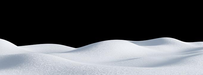 Isolated snow hills landscape. Winter snowdrift background. 1181205630