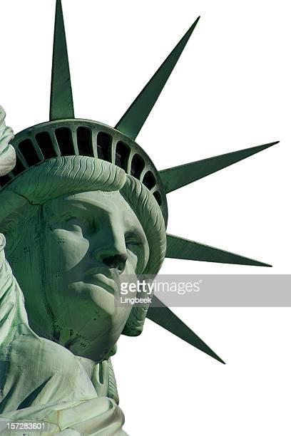 isolato statua della libertà - monumento foto e immagini stock