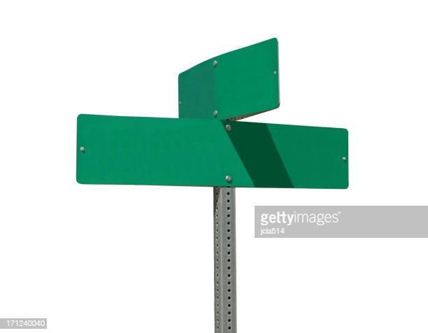 Isolated Street Sign with Clipping Path