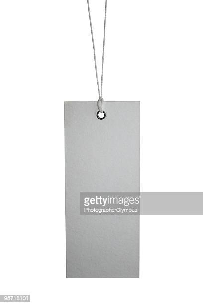 Isolated tag on white XL
