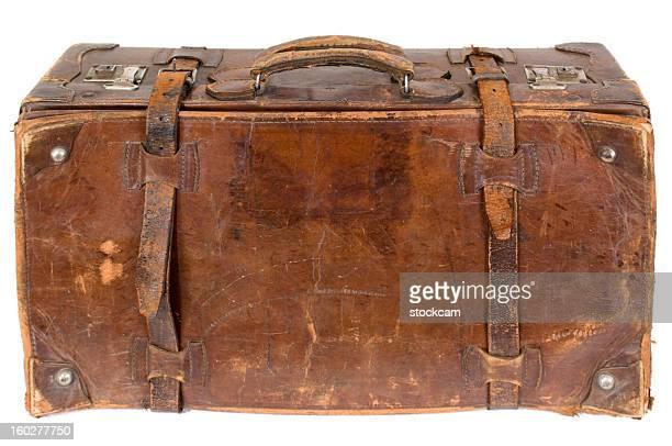 vintage alte Koffer Isoliert