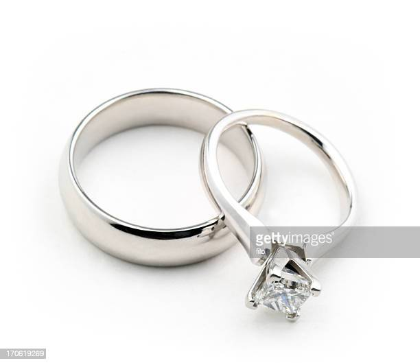isolated wedding rings - wedding ring stock pictures, royalty-free photos & images