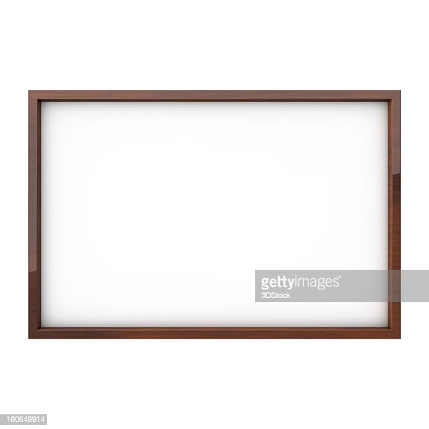 Isolated white blank drawing board