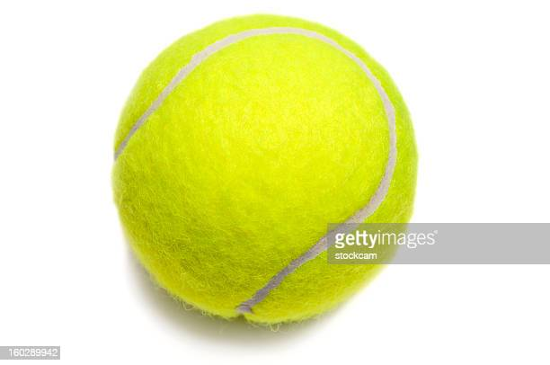 isolated yellow tennis ball - tennis ball stock pictures, royalty-free photos & images