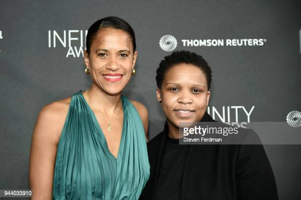 Isolde Brielmaier and Alexandra Bell attend the International Center of Photography's 2018 Infinity awards on April 9 2018 in New York City