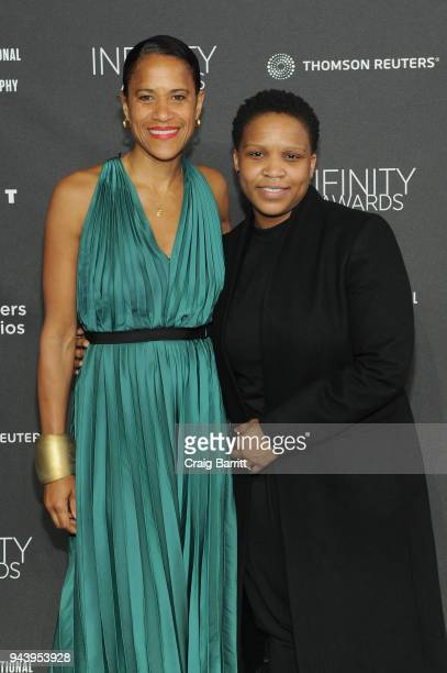 Isolde Brielmaier and honoree Alexandra Bell attends the International Center Of Photography's 2018 Infinity Awards on April 9 2018 in New York City