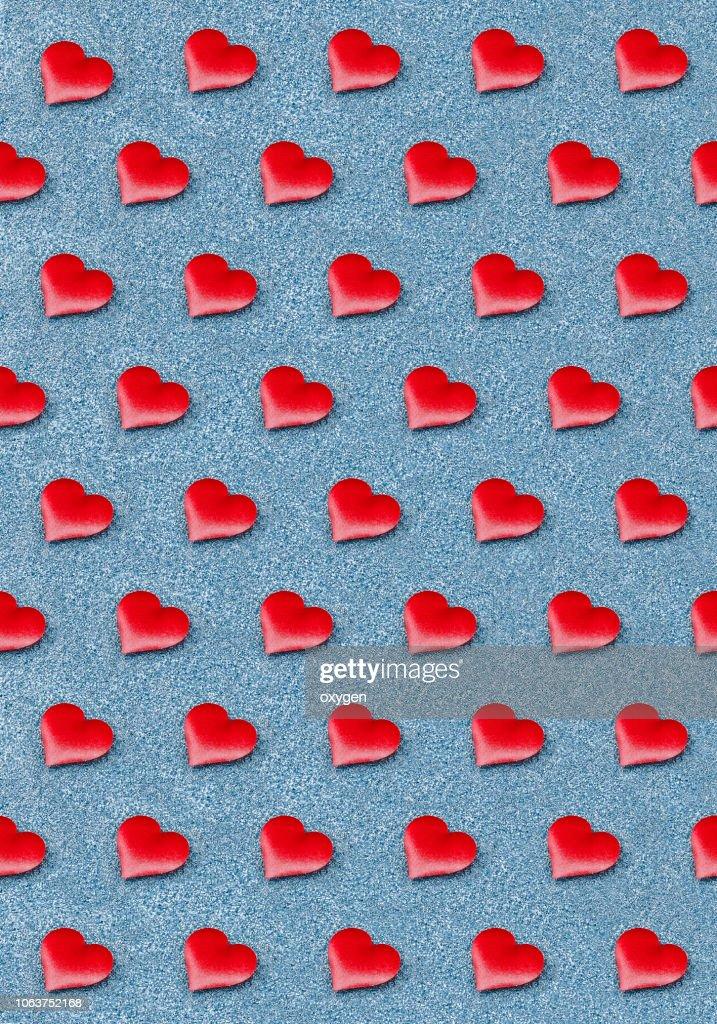 Isometric hearts seamless pattern set : Stock Photo