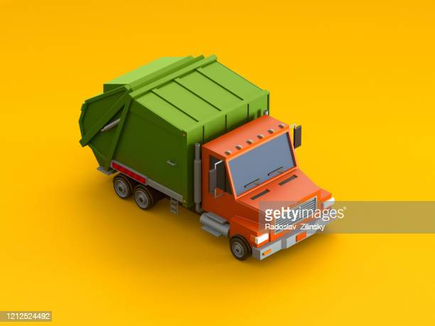 isometric vehicle car on orange background - digitally generated image stock pictures, royalty-free photos & images