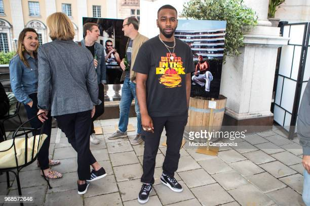 Ison Glasgow attends the launching party of Spotify's playlist 'The Hundred' in association with Getty Images at the Royal Swedish Opera on June 6...