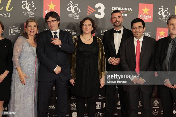 Isona Passola President of the Generalitat of Catalonia Carles Puigdemont Barcelon's Major ada Colau Santi Vila and Gerardo Pisarello attend the IX...