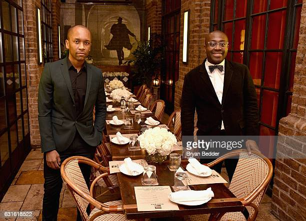 Isoul Harris and Larry OsseiMensah attends the Surface And American Express Platinum Celebrate The Art Issue on January 12 2017 in New York City