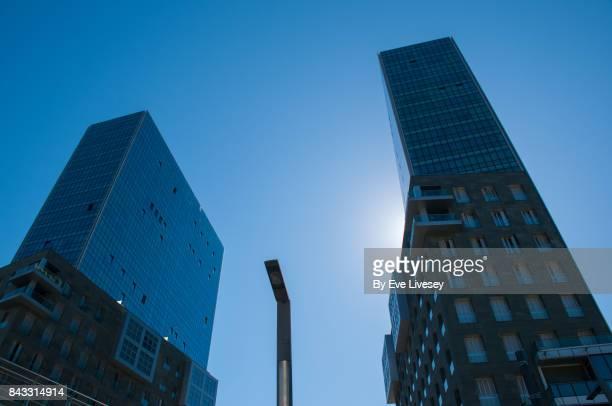 Isozaki Twin Towers, Bilbao, Biscay, Spain, Europe.