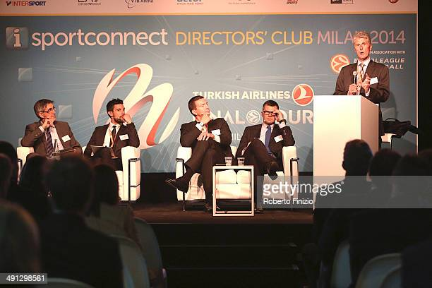 Isportconnect Directors Club in Association with Euroleague Basketball as part of Turkish Airlines Final Four at Mediolanum Forum on May 16, 2014 in...
