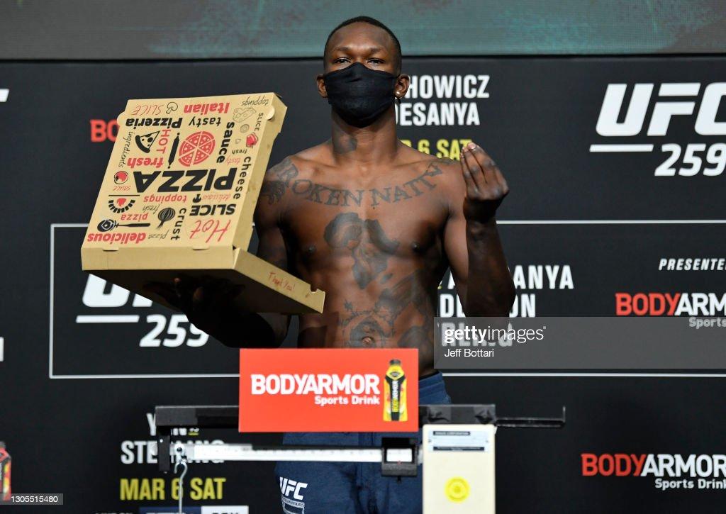 UFC 259 Blachowicz v Adesanya: Weigh-Ins : News Photo