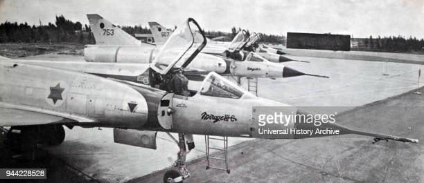 Israel Air Force Dassault Mirage III singleseat singleengine fighter aircraft deployed in the Six Day War 1967