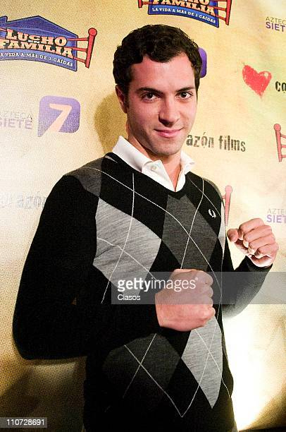 Israel Amezcua attends to the presentation of the tv serie Lucho en Familia at the Camino Real Hotel on March 23 2011 in Tlalnepantla Mexico