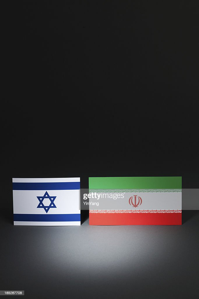 Israel And Iran At Center Stage Under Spotlight Vt Stock Photo