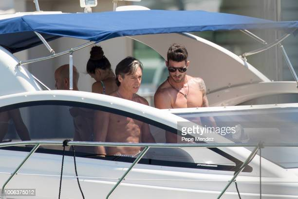 Israel Bayon and Aitor Ocio enjoy a day on a boat on July 27 2018 in Ibiza Spain