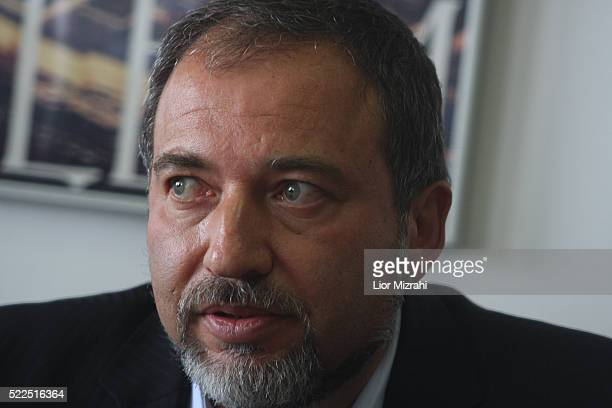 Israel Beitenu right wing Leader Avigdor Liberman is seen during a meeting of his party on May 19, 2008 in Jerusalem, Israel.