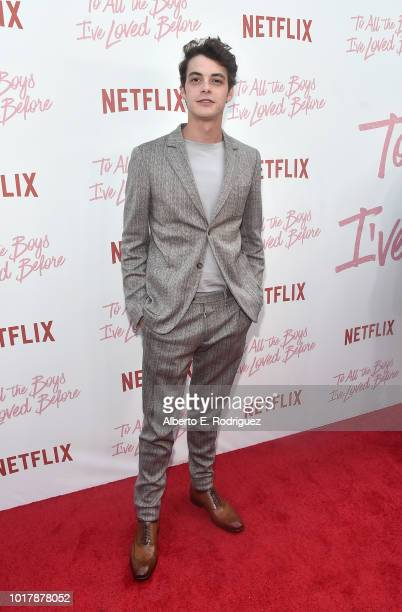 Israel Broussard attends a screening of Netflix's To All The Boys I've Loved Before at Arclight Cinemas Culver City on August 16 2018 in Culver City...