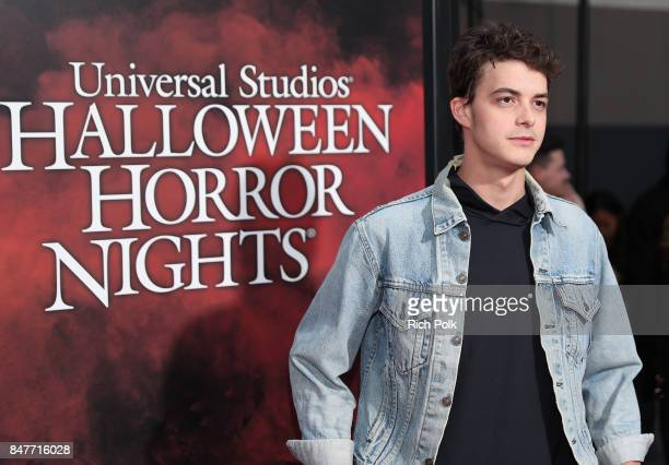 Israel Broussard attends Halloween Horror Nights Opening Night Red Carpet at Universal Studios Hollywood on September 15 2017 in Universal City...