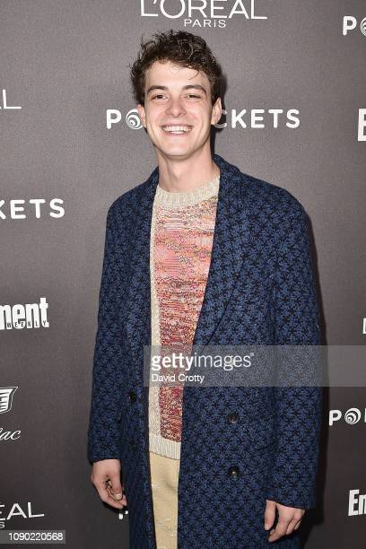 Israel Broussard attends the Entertainment Weekly PreSAG Party Arrivals at Chateau Marmont on January 26 2019 in Los Angeles California