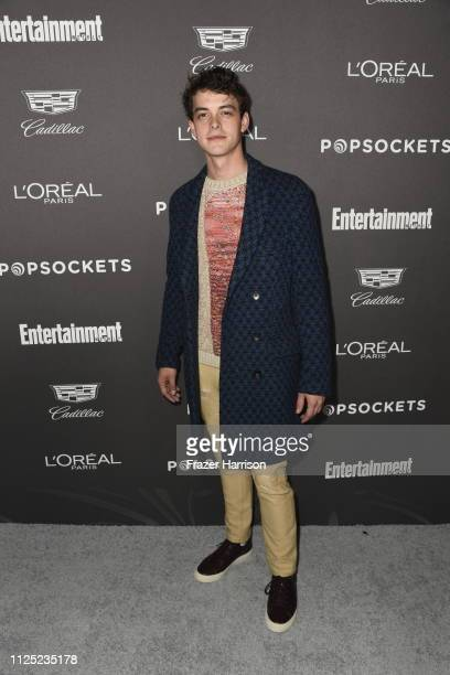 Israel Broussard attends the Entertainment Weekly PreSAG Party at Chateau Marmont on January 26 2019 in Los Angeles California