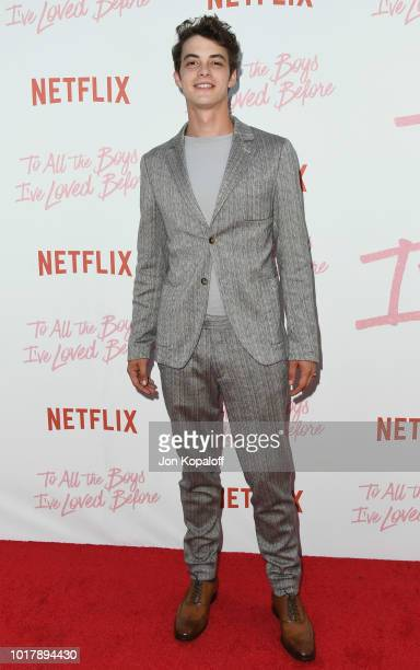 Israel Broussard attends the screening of Netflix's To All The Boys I've Loved Before at Arclight Cinemas Culver City on August 16 2018 in Culver...