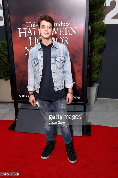 Israel Broussard attends the Universal Studios Halloween Horror Nights Opening Night at Universal Studios Hollywood on September 15, 2017 in...