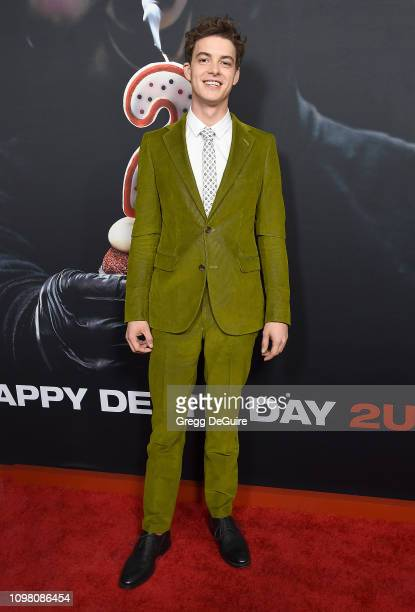 """Israel Broussard attends Universal Pictures Special Screening Of """"Happy Death Day 2U"""" at ArcLight Hollywood on February 11, 2019 in Hollywood,..."""