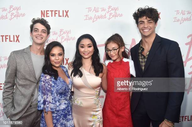 Israel Broussard Janel Parrish Lana Condor Anna Cathcart and Noah Centineo attend a screening of Netflix's 'To All The Boys I've Loved Before' at...