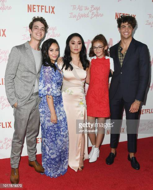 Israel Broussard Janel Parrish Lana Condor Anna Cathcart and Noah Centineo attend the screening of Netflix's 'To All The Boys I've Loved Before' at...