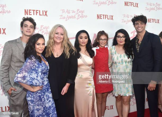 Israel Broussard Janel Parrish Susan Johnson Lana Condor Anna Cathcart Jenny Han and Noah Centineo attend a screening of Netflix's 'To All The Boys...