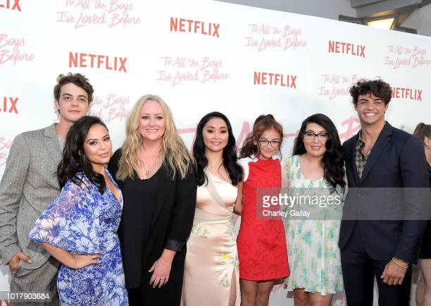 Israel Broussard Janel Parrish Susan Johnson Lana Condor Anna Cathcart Jenny Han and Noah Centineo attend Netflix's 'To All the Boys I've Loved...