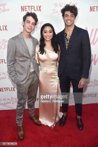 Israel Broussard Lana Condor and Noah Centineo attend a screening of Netflix's 'To All The Boys I've Loved Before' at Arclight Cinemas Culver City on...