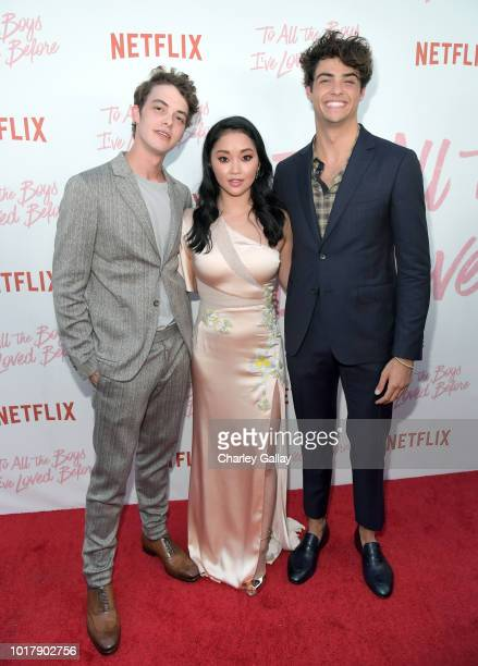 Israel Broussard Lana Condor and Noah Centineo attend Netflix's 'To All the Boys I've Loved Before' Los Angeles Special Screening at Arclight Cinemas...