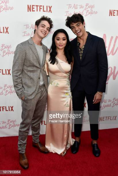 Israel Broussard Lana Condor Noah Centineo attend the Screening Of Netflix's 'To All The Boys I've Loved Before' at Arclight Cinemas Culver City on...