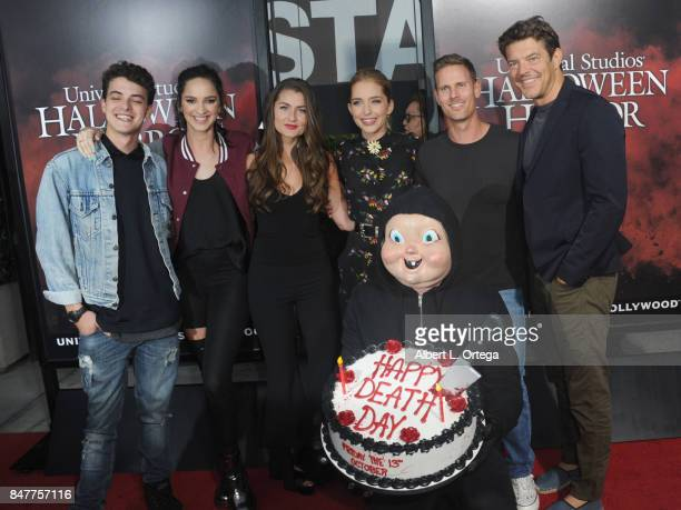 Israel Broussard Ruby Modine Rachel Matthews Jessica Rothe Christopher B Landon Babyface Killer and Jason Blum arrive for the Universal Studios...