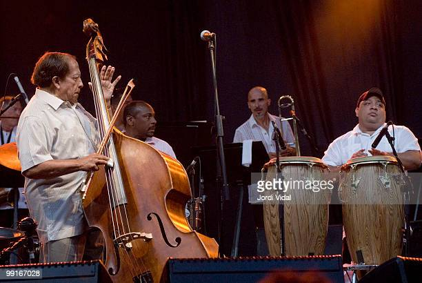 Israel Cachao Lopez performs on stage at Poble Espanyol on July 18 2006 in Barcelona Spain