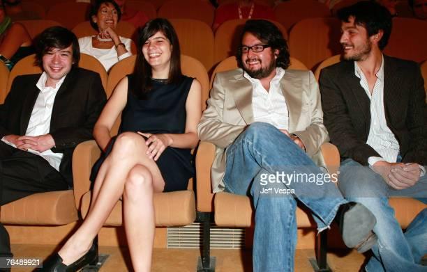 Israel Cardenas Laura Amelia Guzman Pablo Cruz and Diego Luna attend the Cochochi premiere during Day 6 of the 64th Annual Venice Film Festival on...