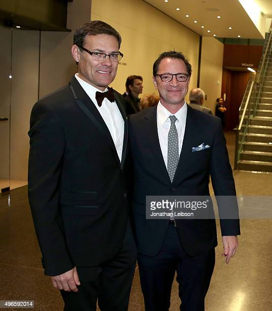 Israel Consul General David Siegel and actor Joshua Malina attend the American Friends of the Israel Philharmonic Orchestra Duet Gala at the Wallis...