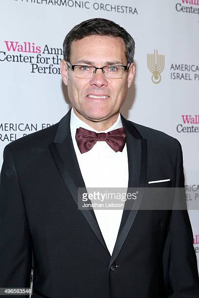 Israel Consul General David Siegel attends the American Friends of the Israel Philharmonic Orchestra Duet Gala at the Wallis Annenberg Center for the...