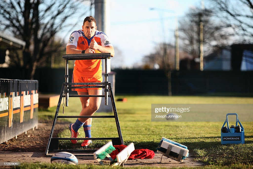 Israel Dagg gestures after a Crusaders Super Rugby training session at Rugby Park on July 3, 2013 in Christchurch, New Zealand.
