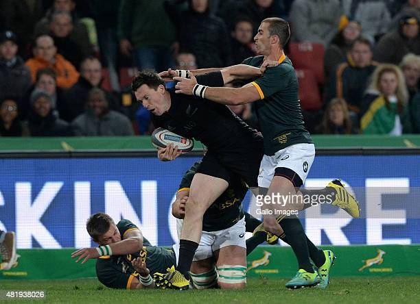 Israel Dagg of New Zealand attacks during The Castle Lager Rugby Championship 2015 match between South Africa and New Zealand at Emirates Airline...