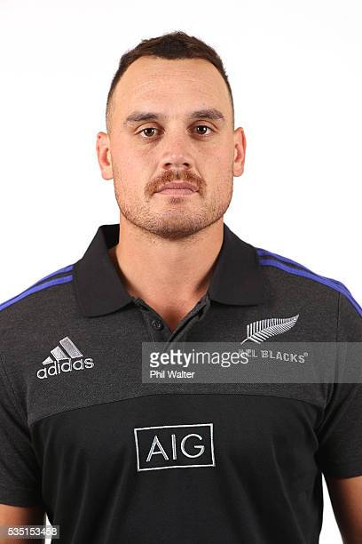 Israel Dagg of the All Blacks poses for a portrait during a New Zealand All Black portrait session on May 29 2016 in Auckland New Zealand